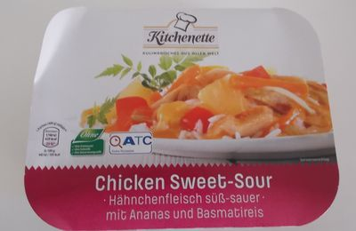 Aldi Kitchenette Chicken Sweet-Sour mit Reis