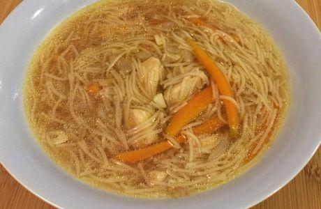 Soupe de poulet façon chinoise