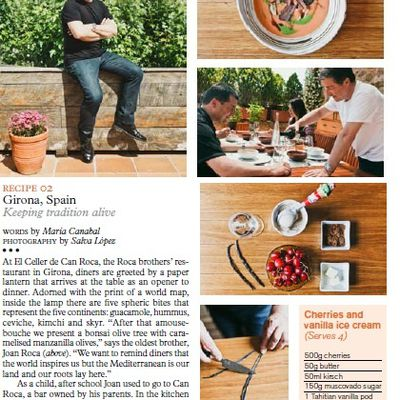 July 2013: Monocle: Cooking at Joan's Roca private kitchen