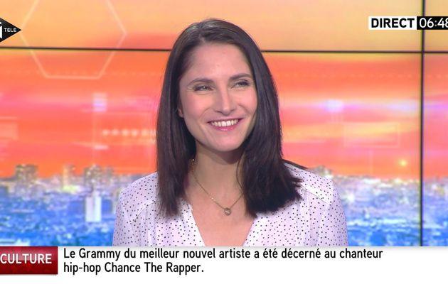 📸7 CLELIE MATHIAS @cleliemathias @JohannaCarlosD8 @itele ce matin #LAMATINALEINFO #vuesalatele