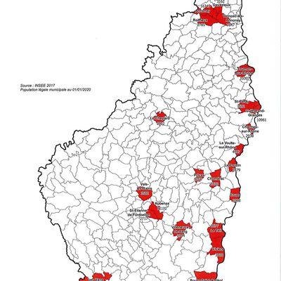 Port du masque obligatoire dans les communes supérieures à 2500 habitants