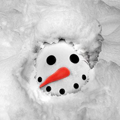 Schnee-Mann oder doch Frau?