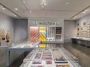 Salle du MAM -Reconstitution de la vitrine du Stand simultané pour l'exposition internationale des Arts décoratifs.