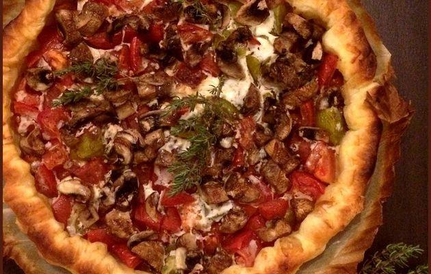 Tarte rustique tomates & champignons