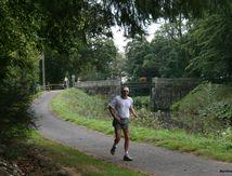 Canal de Nantes à Brest sur la voie verte, fin de séance d'entrainement pour un nouveau défi...