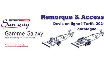 DEVIS -Remorque SUN WAY GALAXY multi-rouleaux pour bateau et semi-rigide – Gamme 2021 – VIDEO