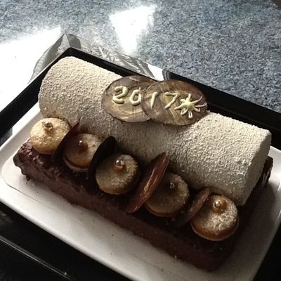 Bûche Saint Honoré brownie
