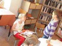 Décorations de Noël, école, bibliothèque
