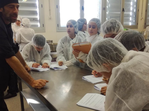 Visit to the Martí Dot kitchens and laboratory practice