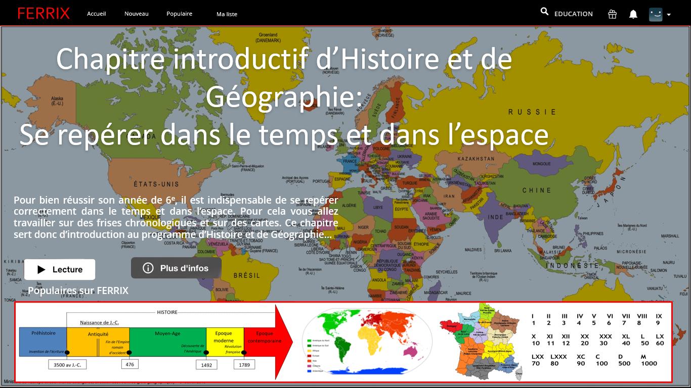 6e / Histoire et géographie : Se repérer dans le temps et dans l'espace
