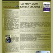 Minfo-Focus n° 33 : le Sherpa Light Carrier avec remorque-station Syracuse III -