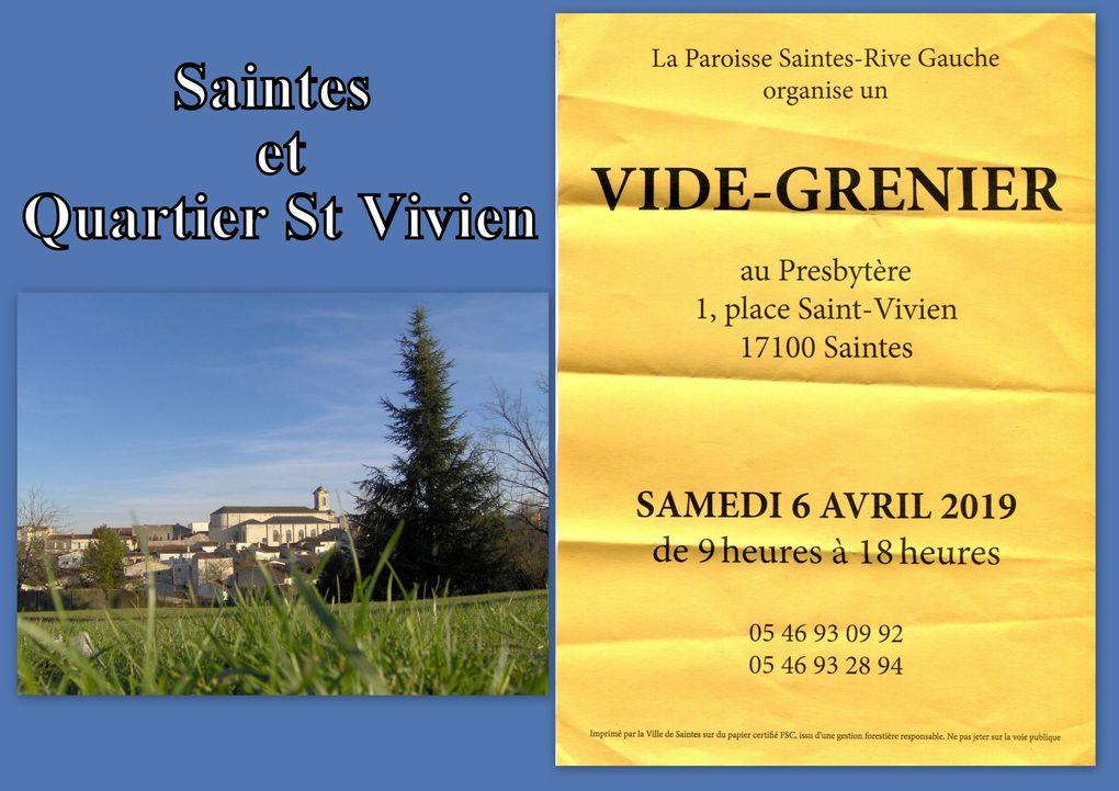 24 - Présence protestante Antenne 2 Saintes. Brocante au Plateau d'Auguste - Parking Hyper U. Rite de réparation à St Eutrope.