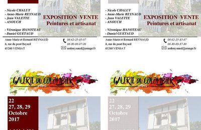 Exposition à la Galerie du Colombier de Vensat
