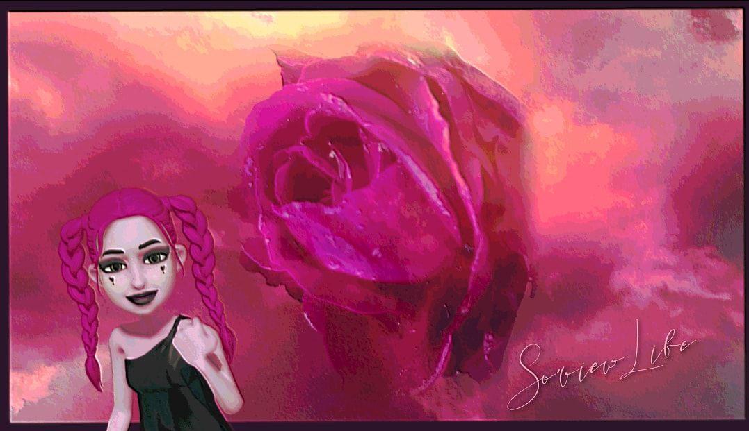 En rose...
