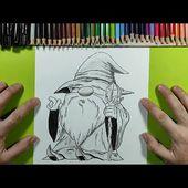 Como dibujar un mago 🧙 paso a paso 2 | How to draw a magician 🧙 2