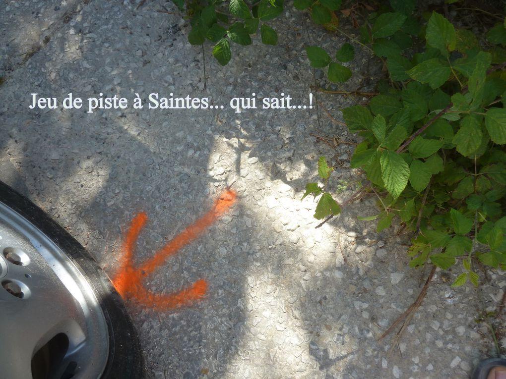 8 - Coconut à l'abbaye cité musicale. St Pallais on restaure. Appel du curé. Tour de ville. Passerelle et berge de la Charente. Photos de lecteurs Saintongeais.