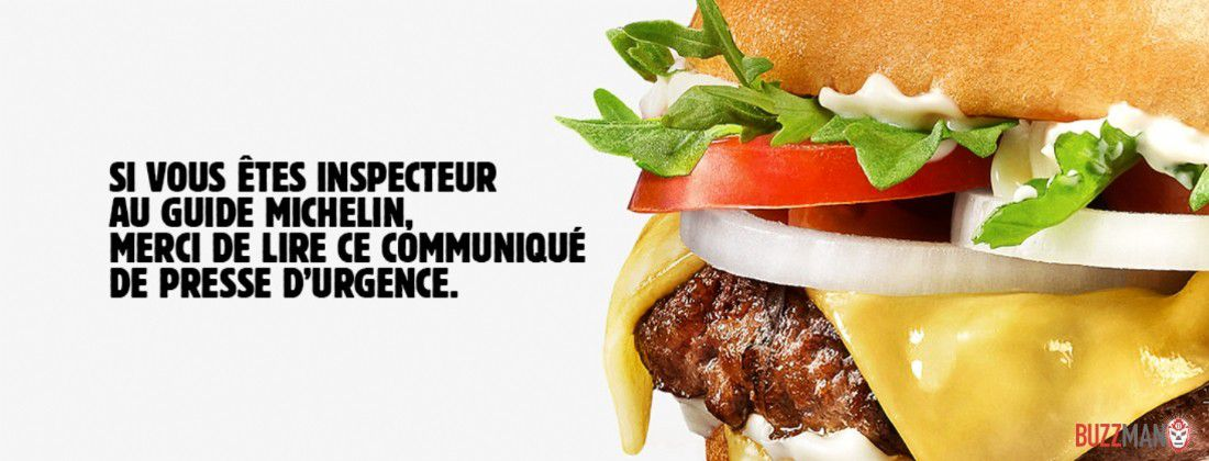 Marketing : Burger King réclame une étoile au Guide Michelin... Une drôle d'idée !