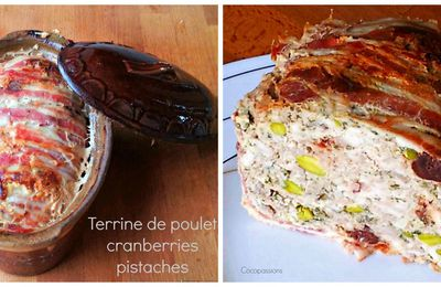 Terrine de poulet aux cranberries et pistaches