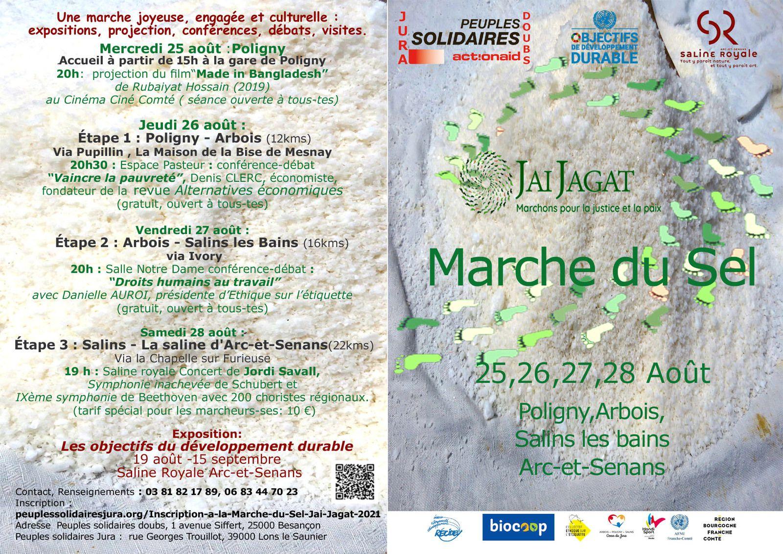 Marche du sel 2021 de Salins à Arc-et-Senans