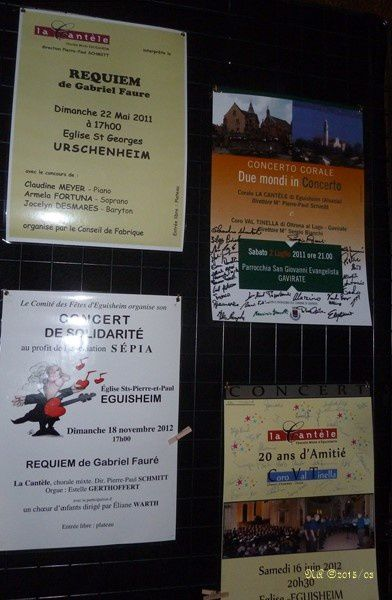 Belle collection d'affiches des concerts de La Cantèle