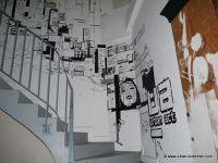 Fresques, peintures pochoirs et stickers à Paris, Tbilissi, Bruxelles et Lisbonne.