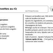 Crevettes au riz : une Fiche recettes cookeo |