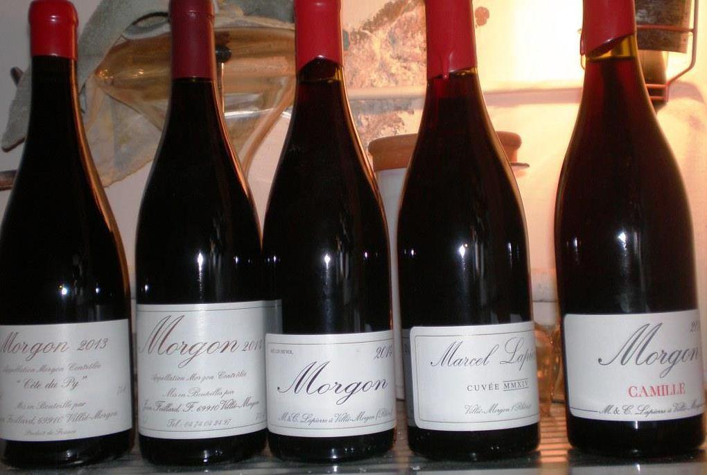 Mercredi 6 avril 2016 : « Les Morgon du Domaine Marcel et Mathieu Lapierre & Domaine Jean Foillard »
