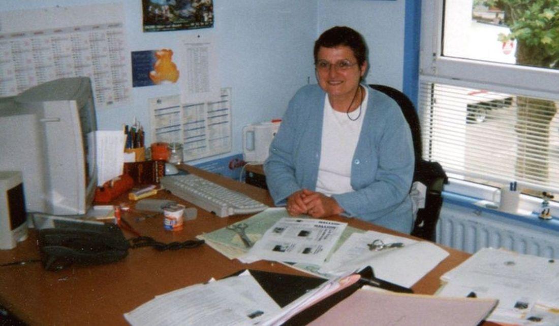 Marie-France Marhem-Ribaux cadre administratif de la Mairie d'Halluin, en 2006.