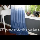 OMBRE DIP DYE - DIY indigo curtains