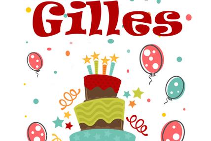 En ce 1er septembre, nous souhaitons une bonne fête à Gilles