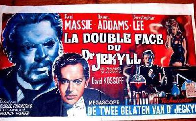 Affiche de cinéma La Double Face Du Dr Jekyll -  The Two Faces of Dr. Jekyll