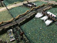 Les confédérés ploient sous les tirs ennemis quand soudain retenti les cris unionistes : Charge !!! Qui sonne le glas des confédérés qui perdent le combat et subissent une lourde défaite