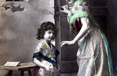 L'angoisse d'une femme de Mineur et de son enfant à Algrange