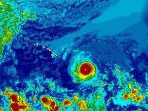 Hurricane Hector approaches the shores of the Hawaiian Archipelago - doc.NOAA 08.08.2018