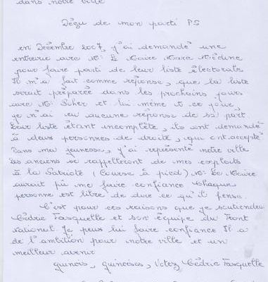 Lettre aux guînois(es)