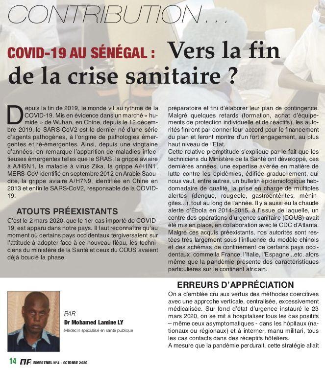 COVID-19: VERS LA FIN DE LA CRISE SANITAIRE?