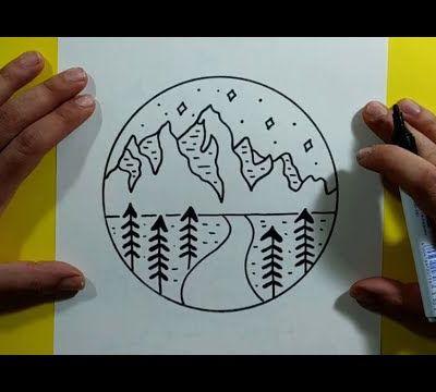 Como dibujar un paisaje paso a paso