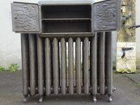 """Rénovation d'un splendide et rare radiateur fonte chauffe-plats """"Art-nouveau"""" GODIN 1909"""
