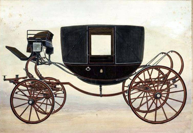 Pour apprécier la qualité du parc, voici les types de voitures cités dans le tarif 1876; Calèche huit ressorts, berline,  coupé Dorsay, landau. (collection de l'auteur)
