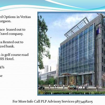 Pre leased property in veritas tower golf course road gurgaon : 9873498205