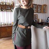 couture, ma nouvelle robe asymétrique ; créée , coupée, cousue par moi :) - crea.vlgomez.photographe et bricoleuse touche à tout.over-blog.com