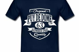 T Shirt Auvergne Original Puy De Dome 63 Number One HBM