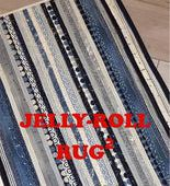 Jelly Roll Rug Squared