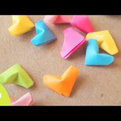 En vidéo:des coeurs en origami et en 3D ! - Elkalin.Couture,broderie main machine
