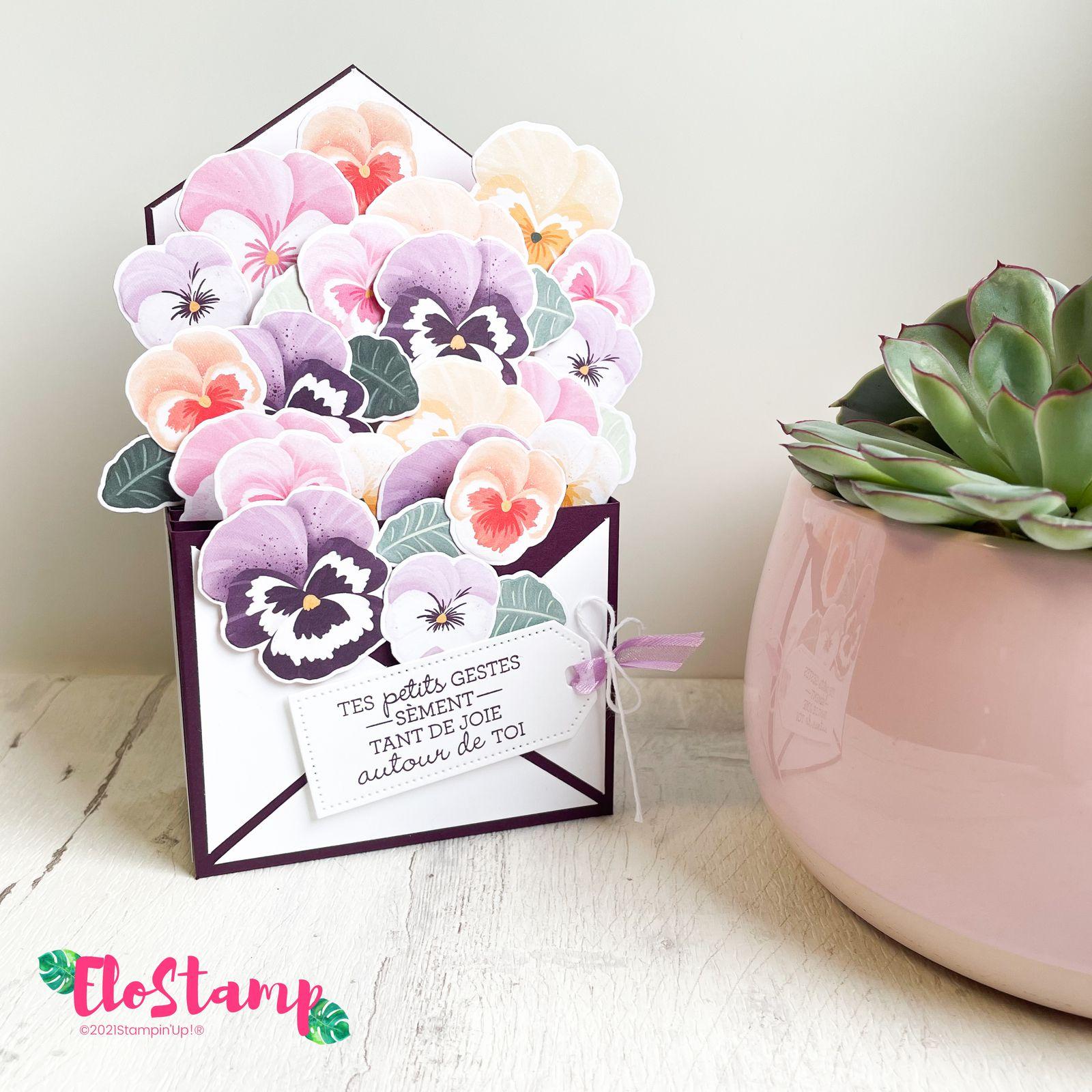 Enveloppe fleurie pour notre prochain rendez-vous créatif