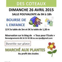 Bourse à l'enfance marché aux plantes 26 avril 2015