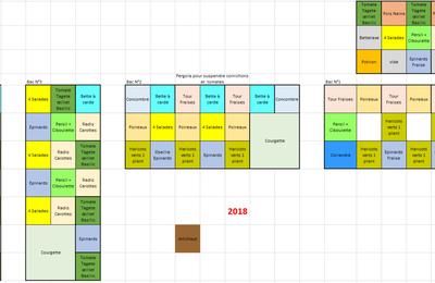 2018 : Le plan du potager