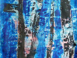 Peinture d'Evelina Nichanian, et sa réinterprétation au trait (Cliquez pour agrandir).