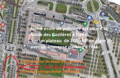 L'école de patinage s'installe sur l'anneau roller du stade des Costières