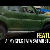 Army spec Tata Safari Storme caught on cam